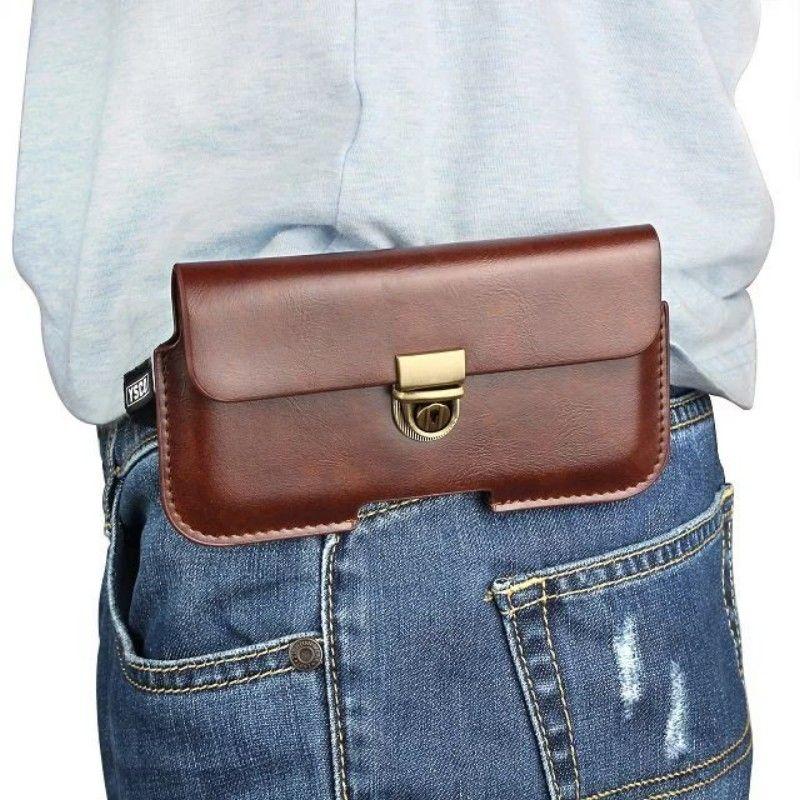 Étui de protection universel en cuir PU avec pochette pour ceinture pour Doogee BL5000 / X30 / Shoot 1