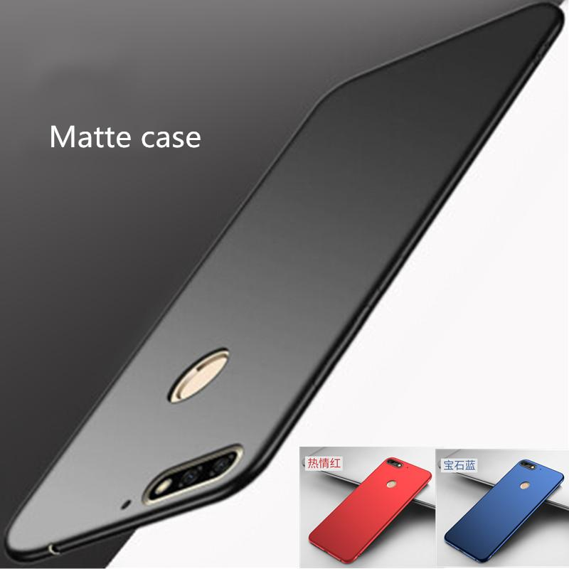 new product 92878 db3bd For Huawei Honor 7A Pro 7C Pro Honor 7S case Matte back cover For Huawei Y6  prime 2018 Y7 prime 2018 Y6 Y9 Y5 Cover glass