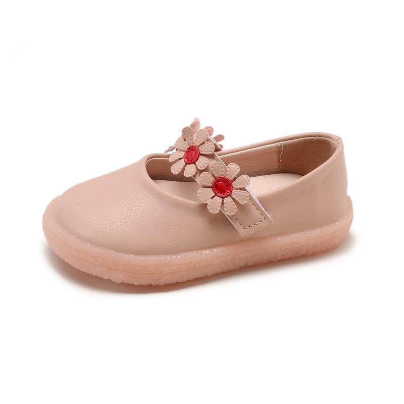 ca0ca83b14 Compre Atacado Barato Princesa Flor Sapatos De Menina De Moda Sapatos De  Vestido De Couro Crianças Primavera Outono Dedo Do Pé Redondo Solas Macias  Sapatos ...