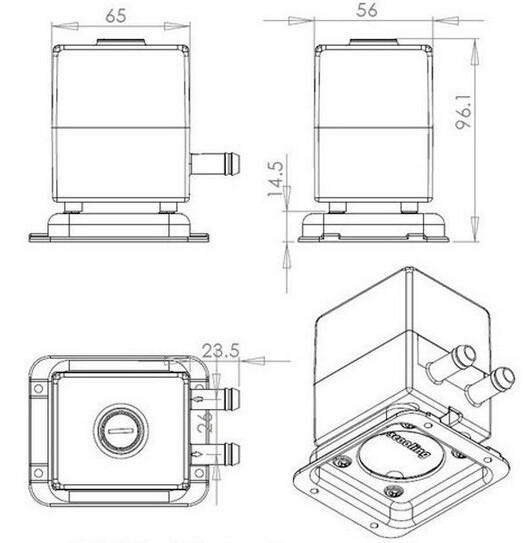 Livraison gratuite 12V CC pompe de pompe à eau ultra-silencieuse pour système de PC de refroidissement liquide par ordinateur