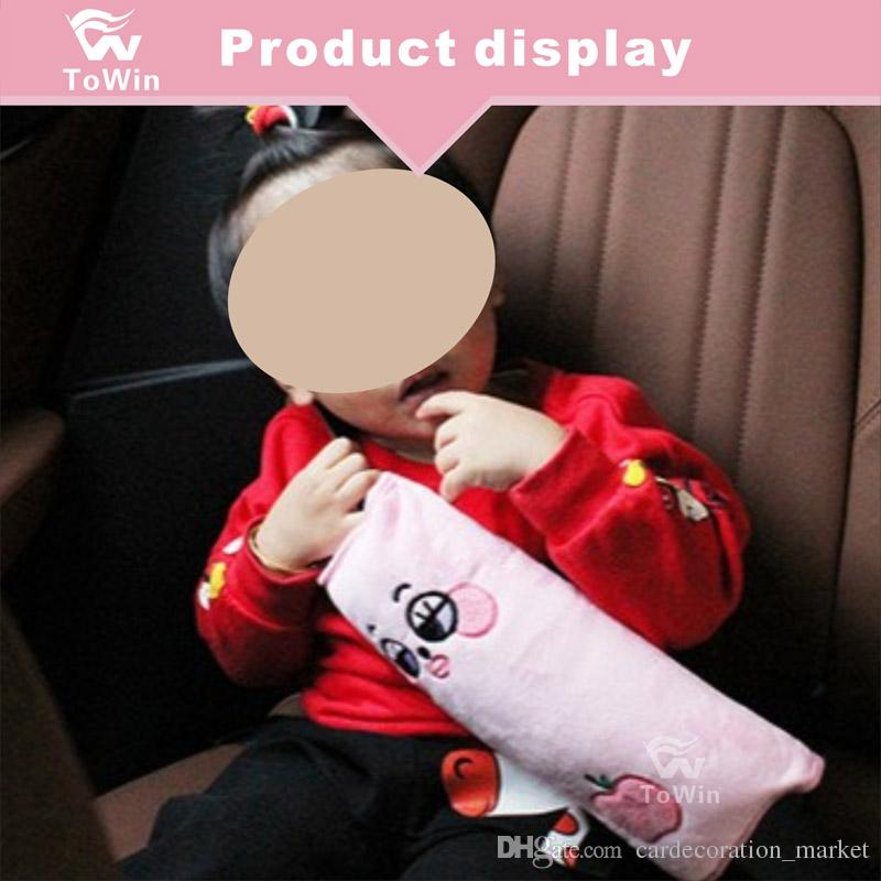 Seatbelt PillowCar Seat Belt Covers For KidsSafety Protector CushionSoft Auto Strap Cover Headrest Neck Support Lovely Travel Car