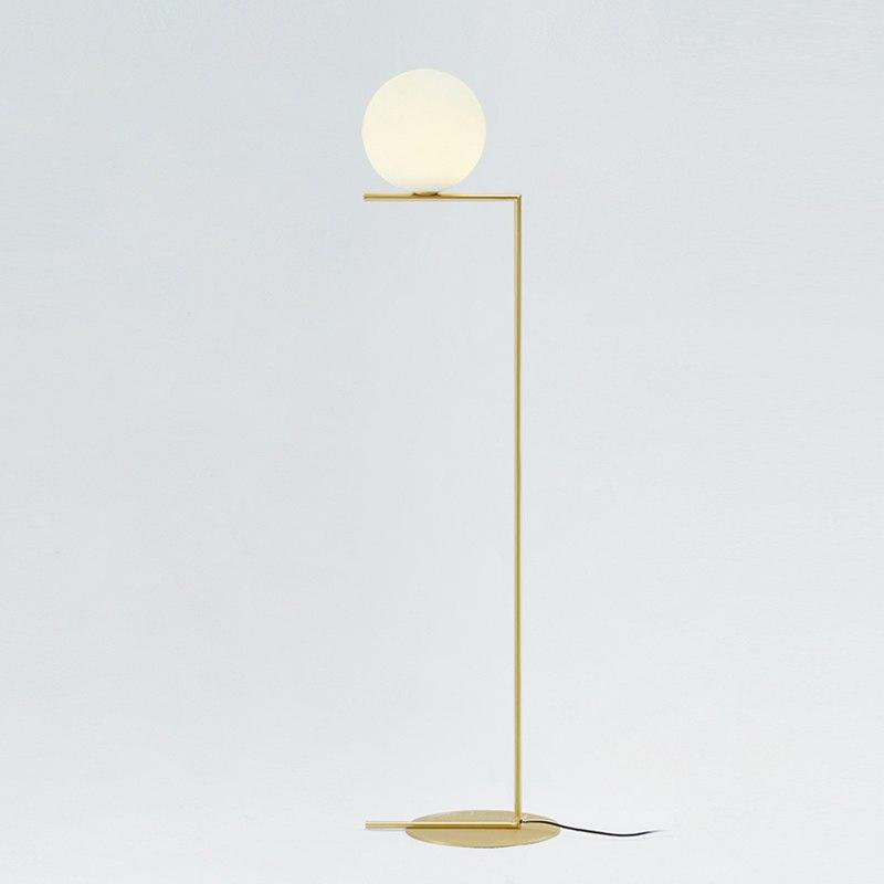 2019 Simple Post Modern Style Floor Lamp Glass Ball Lamp Foyer Light