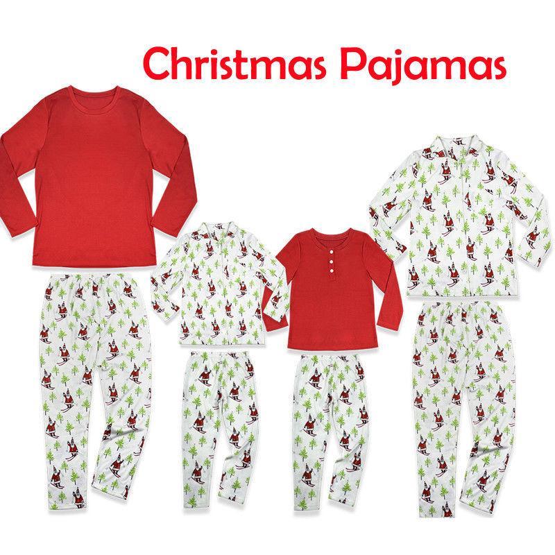 Compre 2018 Juegos De Pijamas De Navidad A Juego Con La Familia