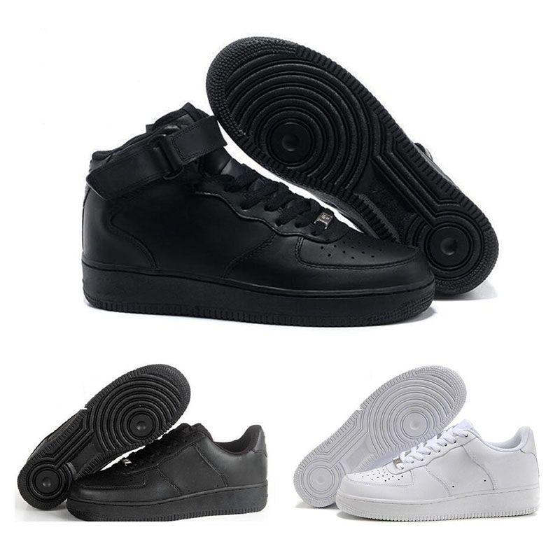 taille 40 e99ee 98d62 2018 Nike Air Force one Nouveau One Dunk Hommes Femmes Flyline Chaussures  de Course, Sport Skateboard Ones Chaussures Haute Basse Taille Blanc Noir  En ...