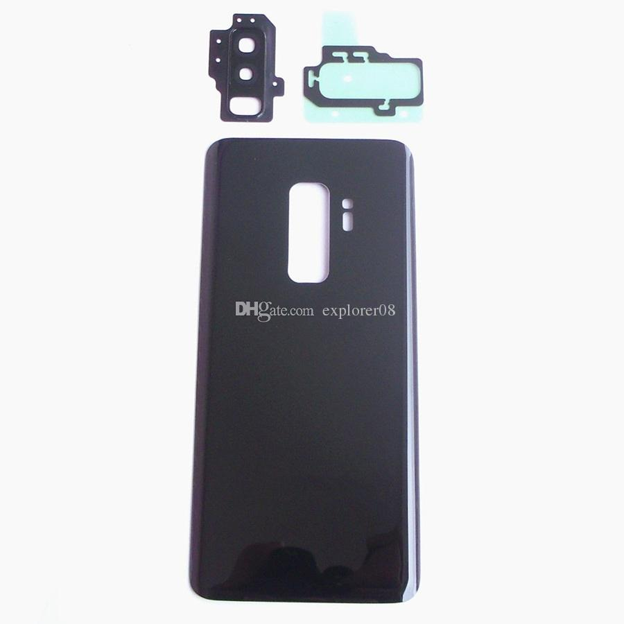 New Battery Door Back Glass Cover Housing with Camera Lens + Adhesive Sticker Replacement For Samsung Galaxy S9 G960 VS S9 Plus G965