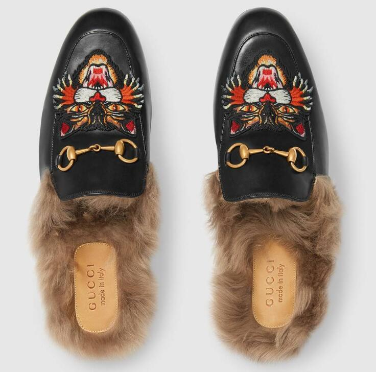 6ad3abe5b Men Princetown Slipper With Angry Cat Appliqué Moccasins Loafers Lace Ups  Monk Straps Boots Slippers Drivers Sandals Slides Sneakers Dress Shoes For  Women ...