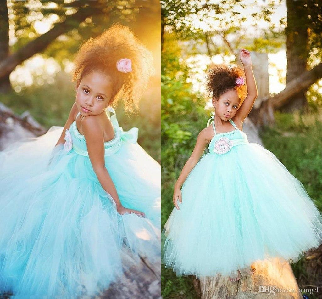 Mint Green Flower Girl Dresses Tutu Dresses With Flower Sash ...