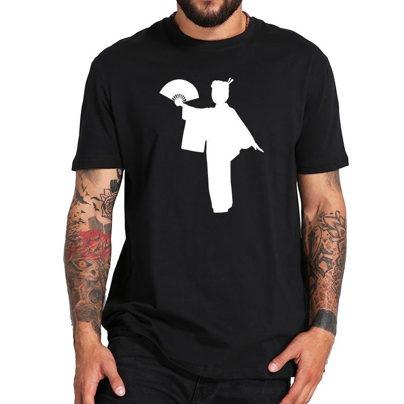 99202938 Japanese Geisha Dance Design Tshirts Men Punk Harajuku Style Short Sleeve  Shirt 100% Cotton Soft Breathable Tee Shirt Summer The T Shirt T Shirts  Designer ...