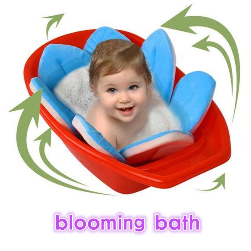 Newborn Baby Bathtub Folding Blooming Flower Shape Mat Soft Seat ...