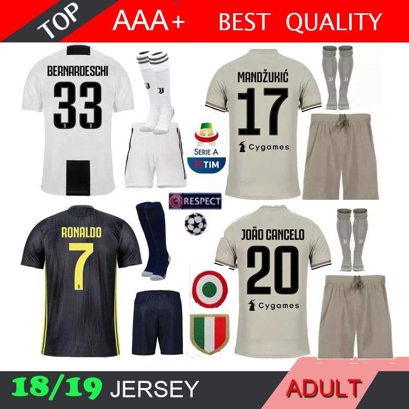 online store 9a7f3 9f419 18 19 Juventus 7 RONALDO Soccer Jersey kit 2018 2019 juve 10 DYBALA 11 D.  Costa 17 MANDZUKIC BUFFON third Football shirt uniforms
