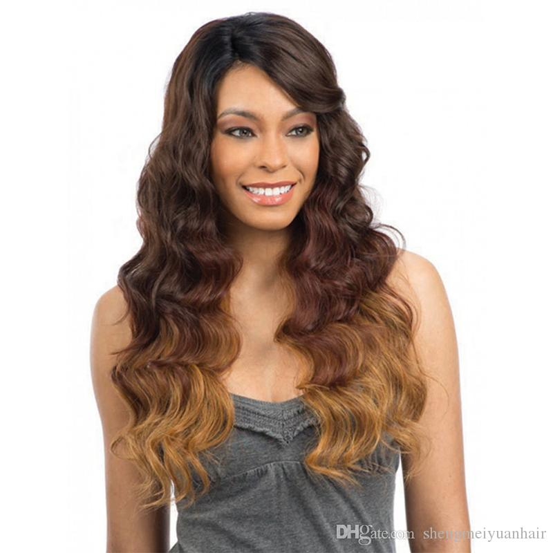 Ombre Human Hair Weave Bundles With Closure 3 Tone Blonde 1b430