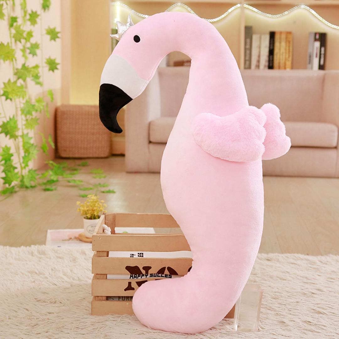 Cute Flamingo Dinosaur Boyfriend Body Pillow Bed Cushion Soft Throw Pillows Washable Body Hug Blue Cushion Creative