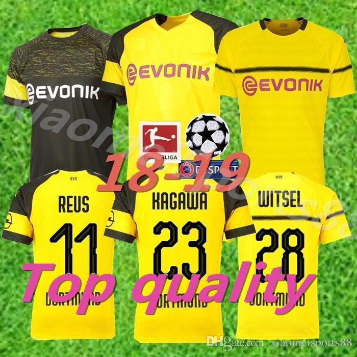 07bb840bd 2018 2019 Bundesliga FC Borussia Dortmund Jersey Men Soccer 11 GOTZE ...