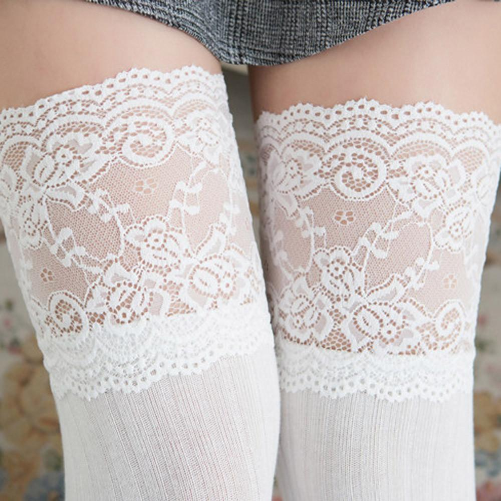 2a65471934b59 2019 Srogem New Fashion Female Soft Warm Winter Cable Lace Trim Thigh High Socks  Sexy Stockings Medias De Mujer Medias Sexy Muslo 25 From Xiamen2013, ...