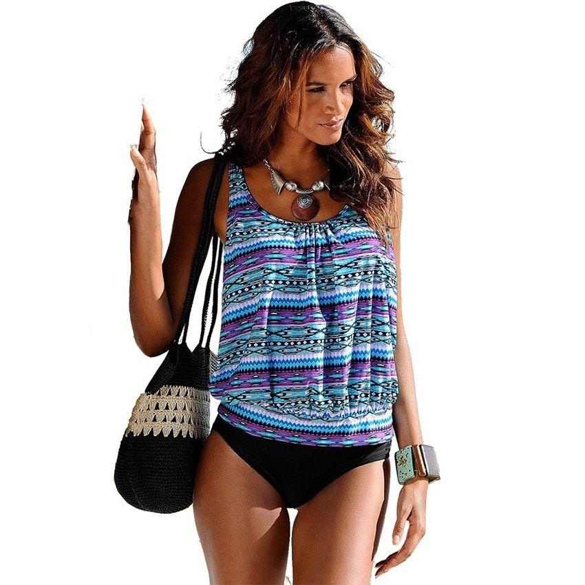 2021 Swimwear Women Swimsuit Tankini Swimsuits Plus Size Swimwear Tankini  Set Vintage Print High Waist Bathing Suits Beach Wear 1017 From  Sunnyhair6677, $27.98 | DHgate.Com
