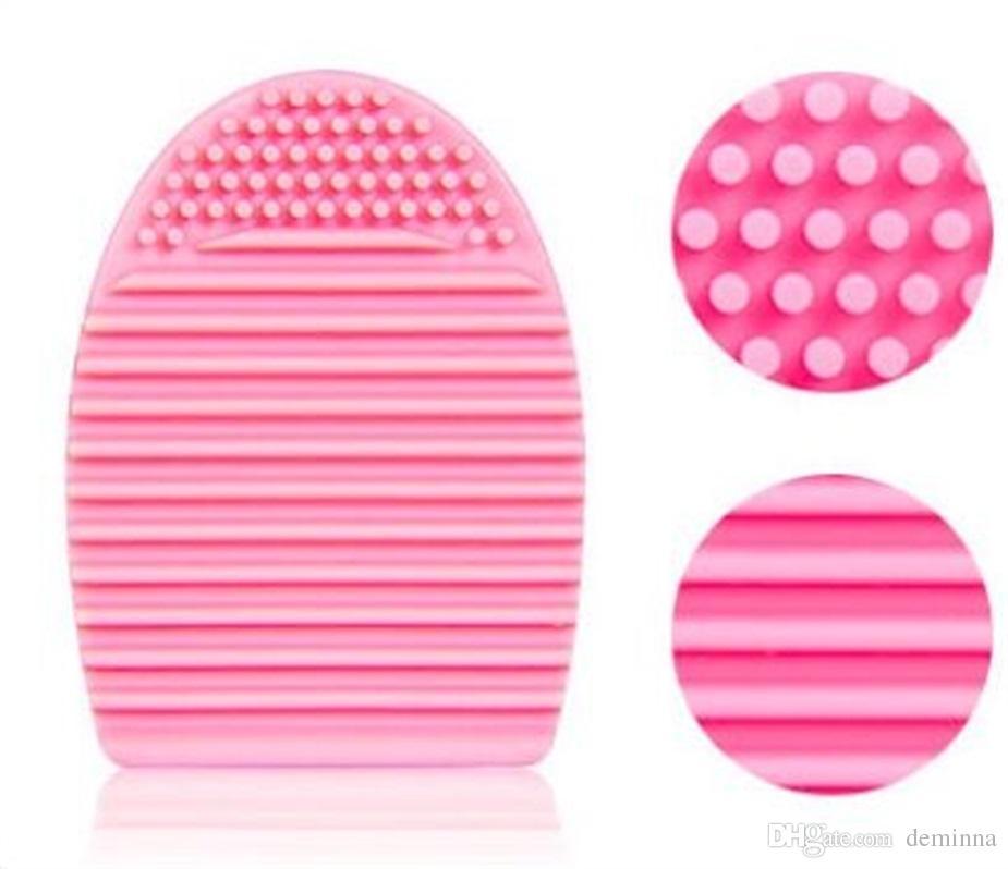 HAUTE QUALITÉ! Nouveau gant de nettoyage des œufs MakeUp Brosse à récurer Conseil des éponges Brushhegg cosmétique Brosse à cosmétiques Brosse à œufs Nettoyer l'outil Livraison gratuite
