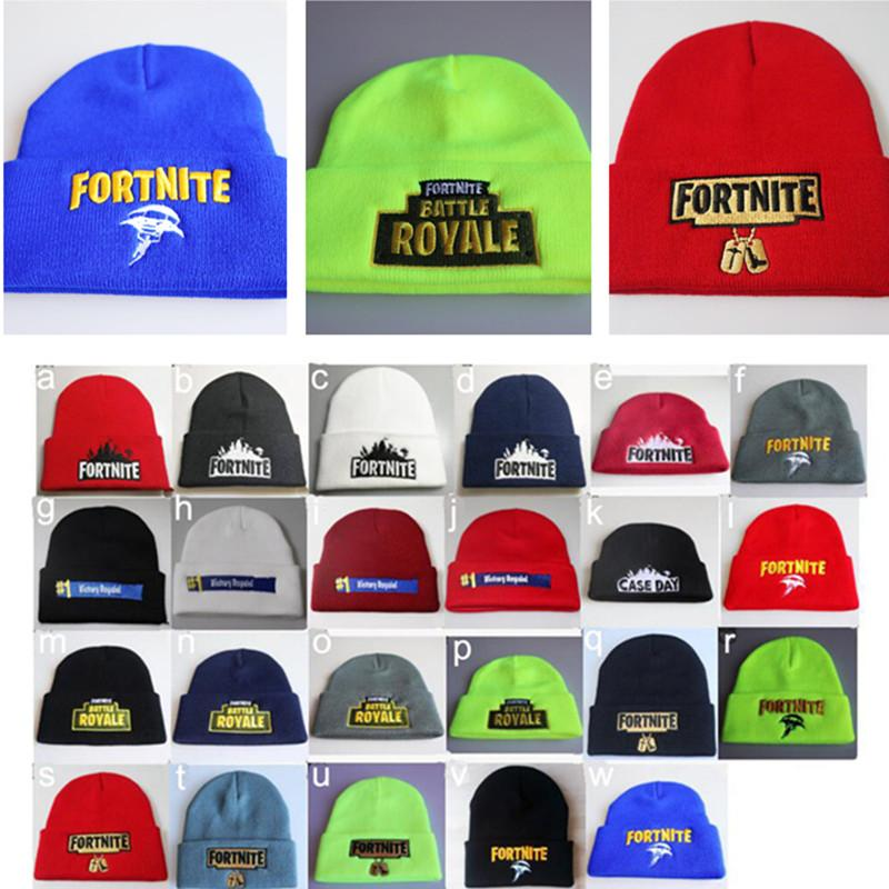 89292bdbec2 2018 New Winter Fortnite Battle Knitted Hat Teenager Cap Beanie Kids Embroidery  Knitted Hip Hop Hats Soft Warm Skullies Bonnet Outdoor From Sanjiang wares