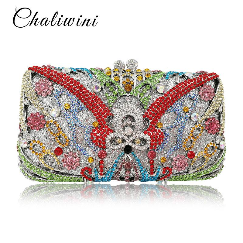 Blue Cant Hollow Out All Crystal Women Clutch Evening Hanging Toiletry Bag  With Quality Female Party Wallet Ladie Wedding Purse Leather Purses Cheap  ... 55cf22a68c3d