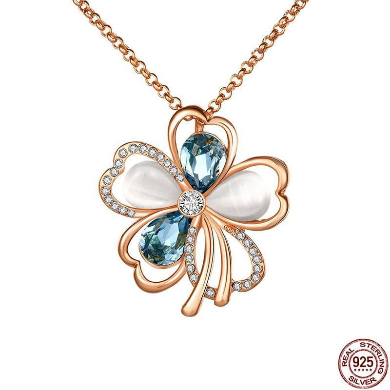 4e8d39eef870 Compre Plata De Ley 925 Natural Aaa Circón Joyería Flores Colgante Collar  De Piedras Preciosas Jwelry Para Las Mujeres Collar Colgante Declaración  D1892604 ...