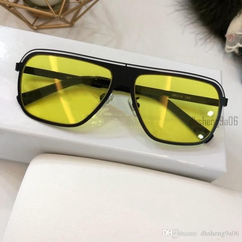 b2cf31330c8 Italy Brand Square Sunglasses Metal Frame Men Women Luxury Designer ...