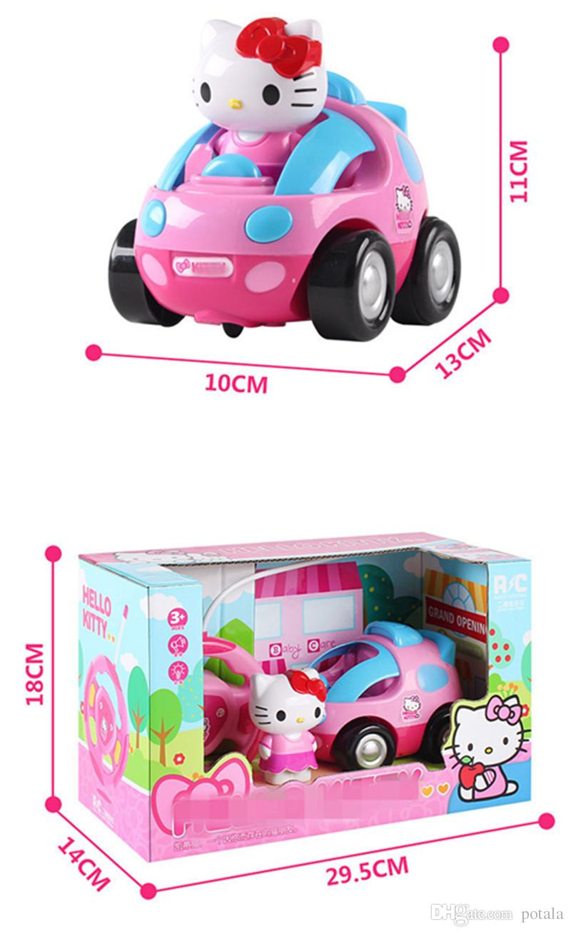 Pink Remote Control 4CH RC Car Doraemon Electric Toys Cute Hello Kitty Funny kids Toys Party Radio Racing Controlled Cars KT Cat Vehicle