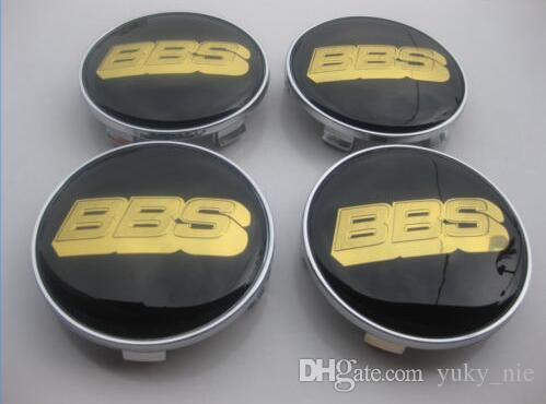 BBS 68mm Black Gold BLACK SILVER WHEEL RIM CENTRE CAP BBS WHEEL CENTER HUB CAPS