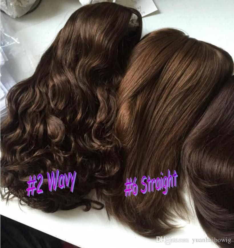4x4 Silk Top Jewish Wig Dark Brown Color 2 Best Sheitels Finest
