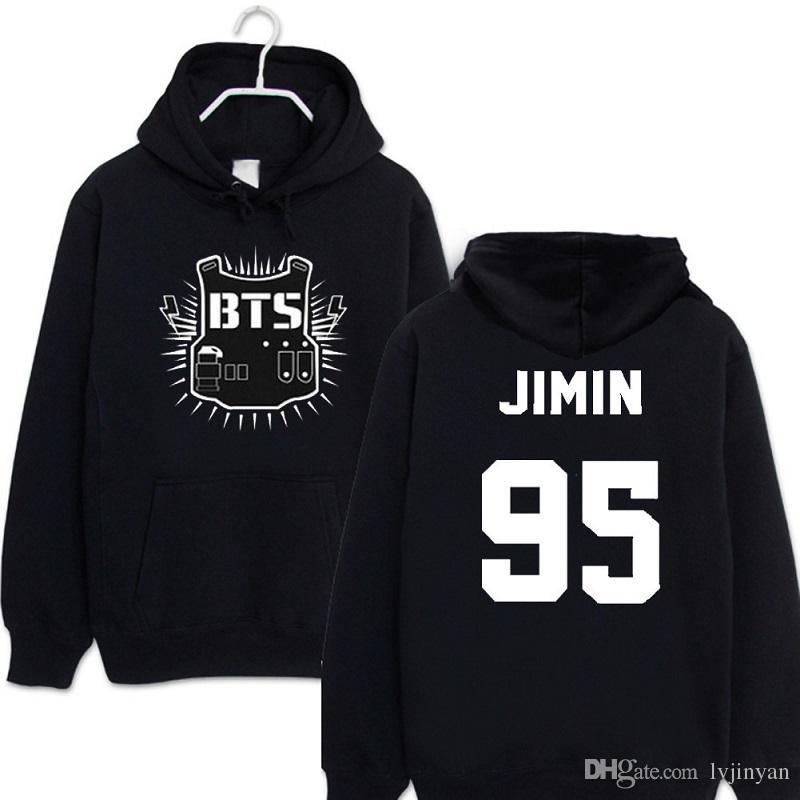 Kpop BTS Hoodies for Women Men Street Hip Hop Sweatshirts Swag Letter Printed in J-HOPE Bangtan Boys Harajuku Hoodie Tracksuit