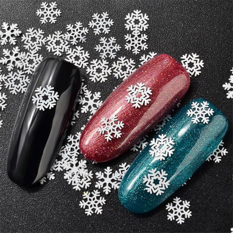 Funny Christmas Snowflakes Nail Art Decorations Ultra Thin Metal