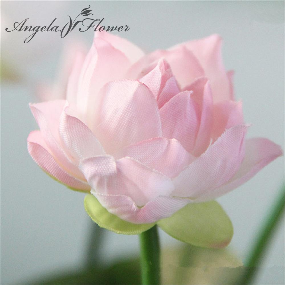 Vivid Mini Artificial Lotus Flower Home Flowerpot Decoration Green