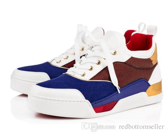 0b46121ef3ee 2018 Famous Designer Red Bottom Sneakers Men Shoes Aurelien Flat ...