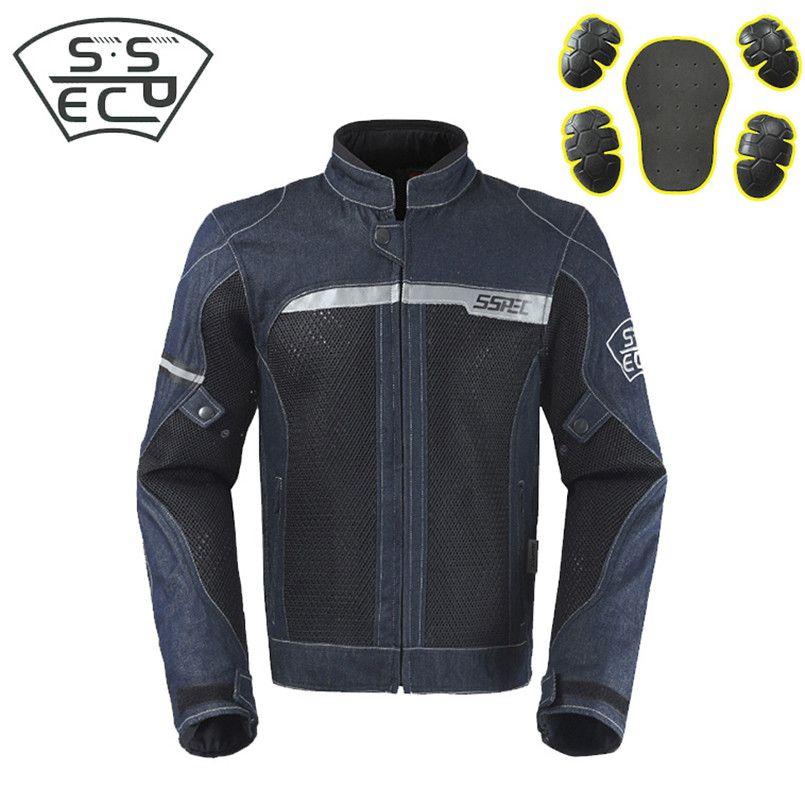 870c3acda895f Compre 2018 Brand New Demin Motocicleta Chaqueta Motocross Trajes Chaqueta  Pantalones Moto Chaqueta Protective Gear Armor Men Motocicleta Ropa A   161.41 Del ...