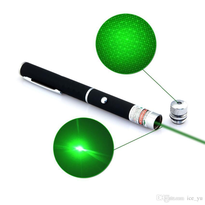 Super Leistungsstarke Laserpointer 2in1 Puntero Laser 5mW Leistungsstarke Caneta Laser Grün / Rot / Blau Violet Lazer Verde Mit Stern Kappe