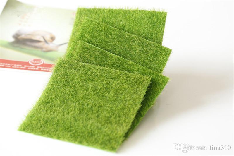 Suni çim çim 15 * 15 cm bahçe minyatür gnome moss dekor el sanatları bonsai DIY Zakka T2I116 için ev dekor