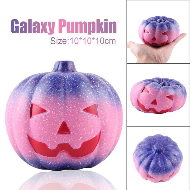 Creative Squishy Starry Pumpkin Slow Rebound Decompression Toys Squishies Hand Squeezed Toy Children Halloween Gifts