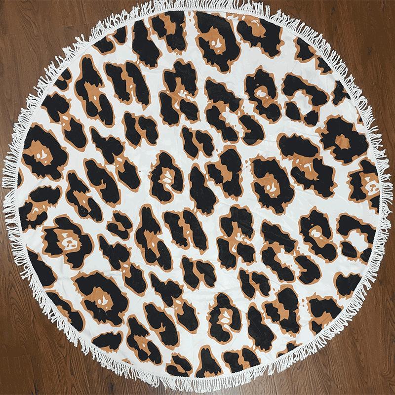 150cm ronde serviette de plage polyester tapis de yoga tapis de couverture bikini sports de plein air serviette de bain maillot de bain châle wrap pad pique-nique couverture WX9-514