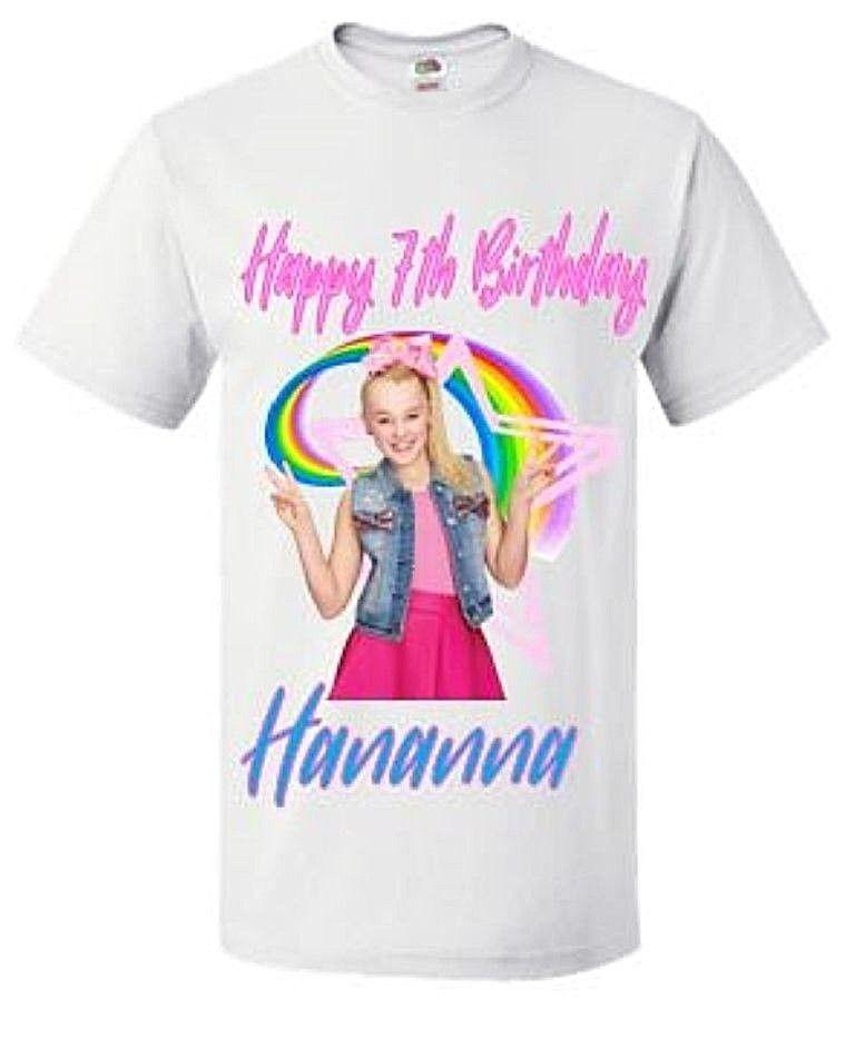 Jojo Siwa Birthday T Shirt Personalised GirlS Cool Tee Funny Graphic Shirts From Teestotal 1101