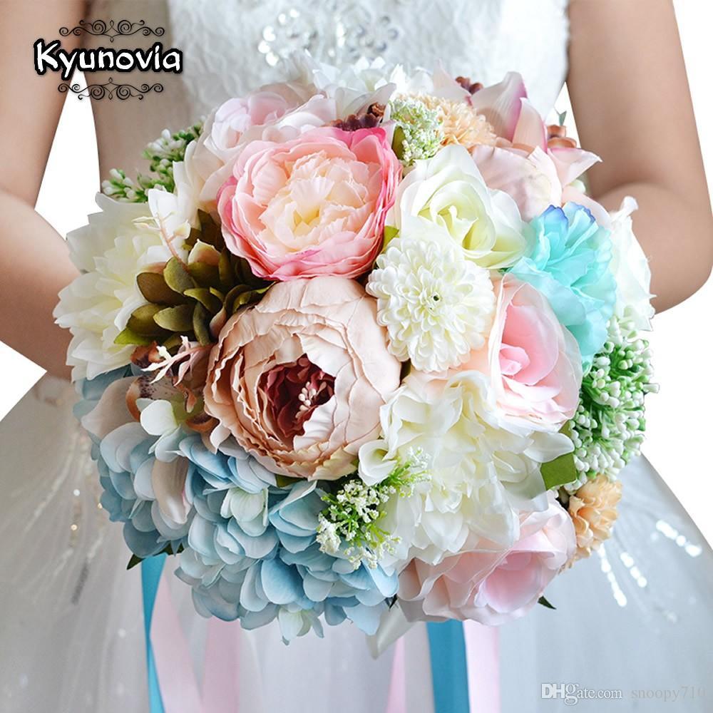 be6deb3448 Acquista Bouquet Da Sposa Di Charme Bouquet Da Sposa Di Colore Assortito Bouquet  Di Fiori Da Sposa Artificiali Bouquet Da Sposa FE12 A $71.37 Dal Snoopy710  ...