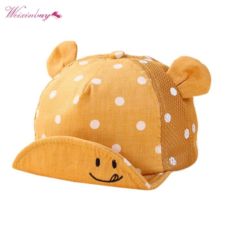 f537567806d 2019 Dots Little Ear Hat Kids Cap Newborn Toddler Baby Girl Boy Snapback  Baseball Cap From Curd