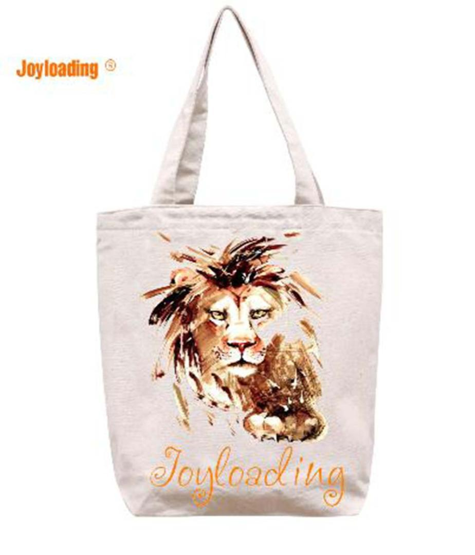cd996937a Joyloading Fashion Cartoon Lion Face Design Reusable Grocery Shopping Bag  Zipper Closure Foldable Tote Bag Wine Bags Custom Bags From Xiamenshoes
