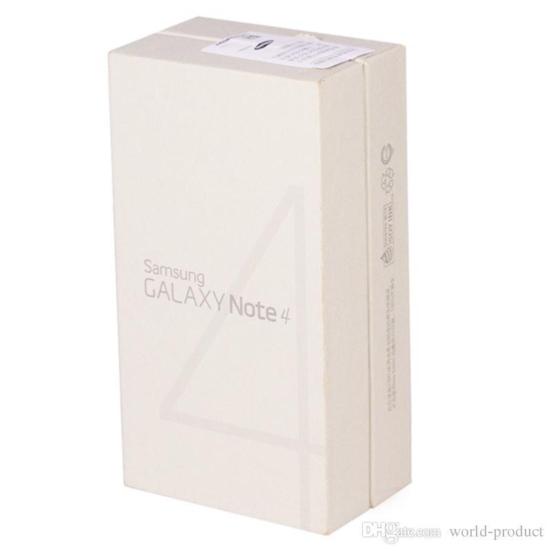 Восстановленный Galaxy Note 4 оригинальный Samsung N910F/A/V/P / T RAM 3 ГБ ROM 32 ГБ 4G LTE четырехъядерный разблокирован телефон