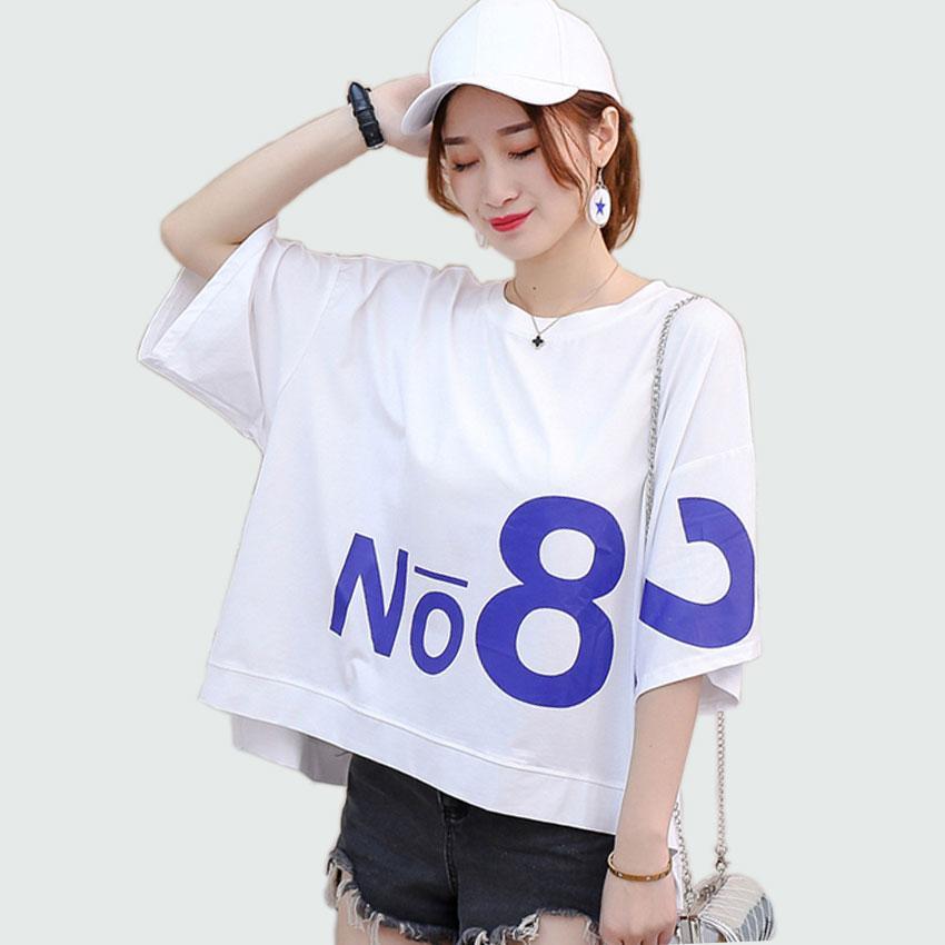 b3cacec4fd2 2019 Oversized Tee Shirts 2018 T Shirt Women Girl Harajuku Loose Cotton  Short Sleeve Hip Hop White Comfortable Women Summer Cool Top From  Angelyanyan