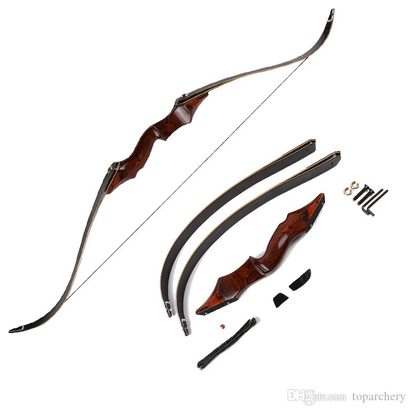 40lbs-60lbs Archery 58 Takedown Recurve Bow Red Laminated Wooden for  Hunting Shooting Practice Outdoor Sports Target