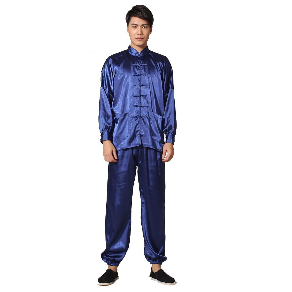 2019 Chinese Style Male Button Pyjamas Suit Novelty Gold Men Satin Pajamas  Set Soft Sleepwear Home Wear Shirt Trousers Nightgown From Yujian18 bff31ea1c