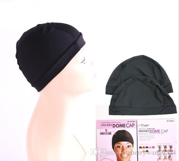 Cheap weaving caps spandex dome wig cap for making wigs black weave cap invisible hair net nylon stretch wig net cap