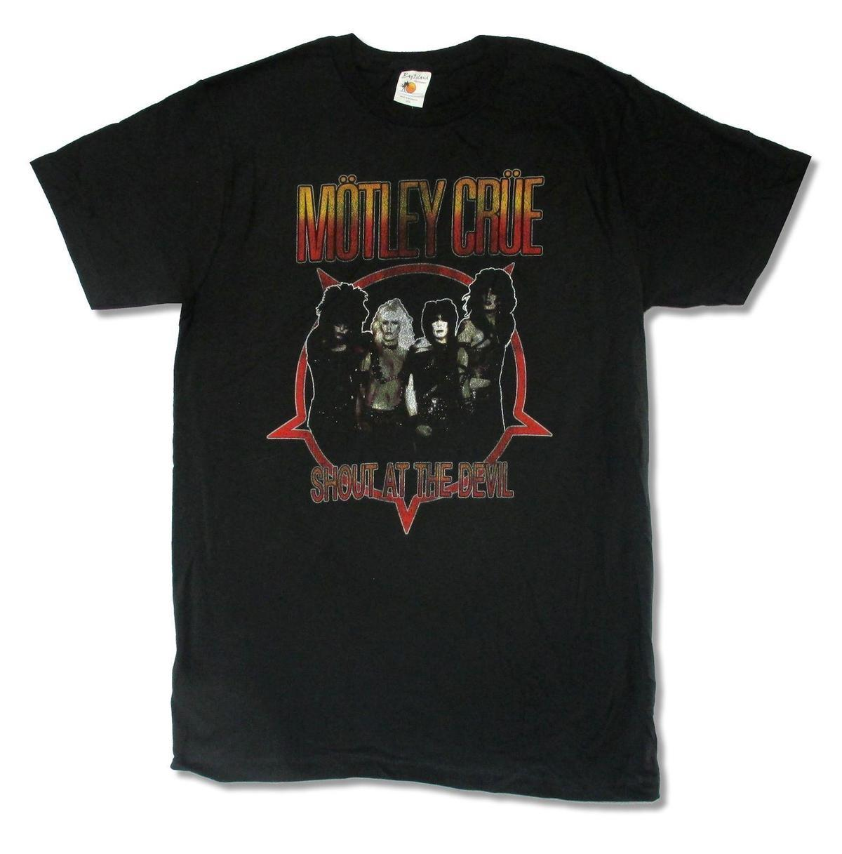 a4ec1d625ab Motley Crue Shout At The Devil Mens Black T Shirt New Official Business Tee  Shirts Printing Coolest T Shirts Online From Pxue3308