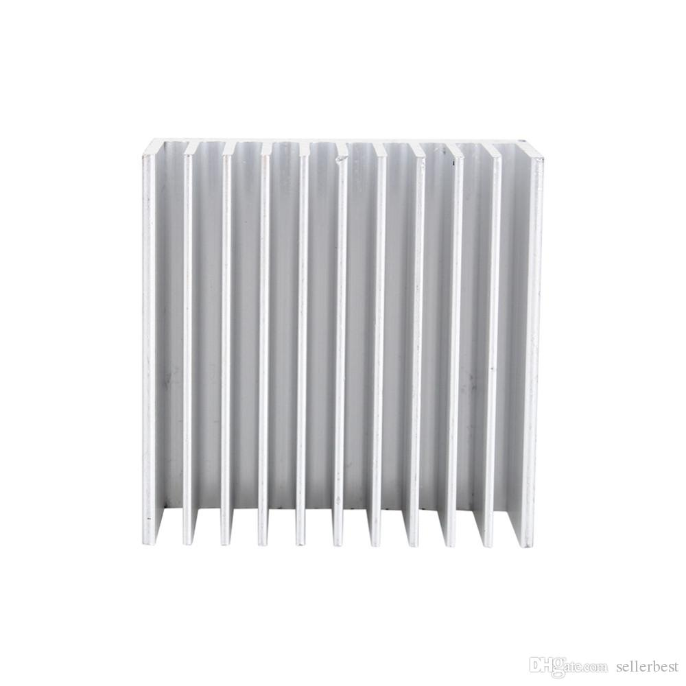 Cooling Accessories Heat Sink 40X40X20mm IC HeatSink Metal Aluminum Cooling Fin Fan Silver Color Wholesale Support