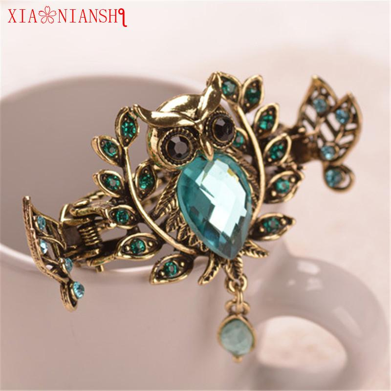 2019 Charm Gold Color Metal Owl Hair Jewelry Top Crystal Stone Crab Claw  Clip Vintage Hair Clip Hair Accessories Gift For Women Girls S926 From  Ruiqi08 885f5a934d56