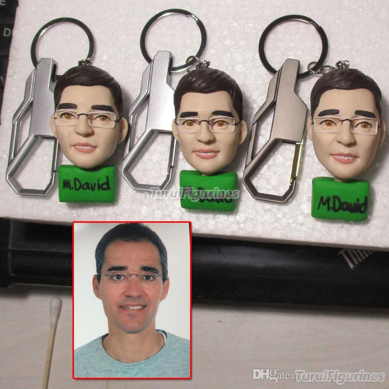 Turui Figurines Custom Personalized Keychain Key Chain Superman Bobblehead 70th Birthday Gift For Man Male Doctor