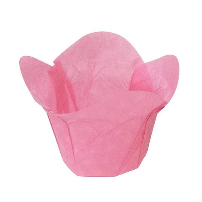 Baking Cupcake liners cases Lotus shaped muffin wrappers molds stand oil release paper sleeves 5cm pastry tools Birthday Party Decoration